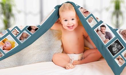 Personalisierbare Foto-Fleece-Decke mit Kunstpelz in der Größe nach Wahl