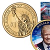 Donald Trump 45th President of the USA Colorized Presidential $1 Coin