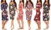Women's Open Shoulder Dress in Floral Print