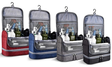 Waterproof Travel Hanging Toiletry Bag in Choice of Colour: One ($19.95), Two ($36.95)