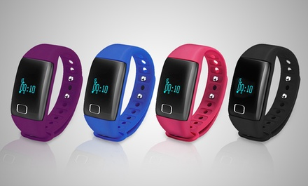 One or Two BaS-TeK T1 Waterproof Fitness Trackers in Choice of Colours