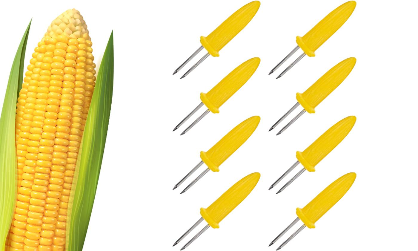 8, 16, 32 or 48 PMS International Barbecue Stainless Steel Corn Holders