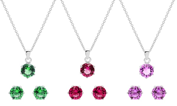 Set collier et boucles d'oreilles orné de cristaux Swarovski® de la marque  OMGJewel