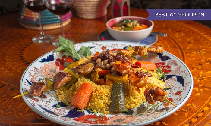 Marrakesh - Costa Mesa: Traditional Feast Prix Fixe Dinner for Two or Four at Marrakesh (Up to 36% Off)