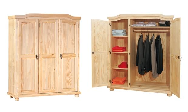Armadio a 2 o 3 ante in legno | Groupon Goods