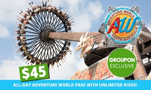 Adventure World: $45 for All-Day Adventure World Pass with Unlimited Rides(Up to $59.50 Value)