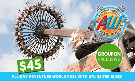 $45 for All Day Adventure World Pass with Unlimited Rides(Up to $58 Value)