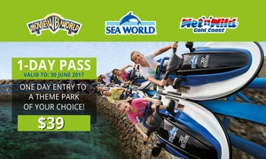 Village Roadshow Theme Parks: $39 for a 1-Day Pass to Movie World, Sea World or Wet'n'Wild Gold Coast