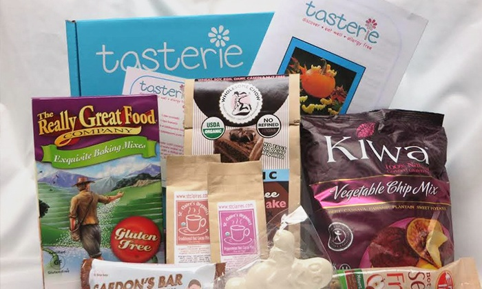 Tasterie LLC: One Sample Box of Allergen-Free Food from Tasterie (40% Off). Three Options Available.