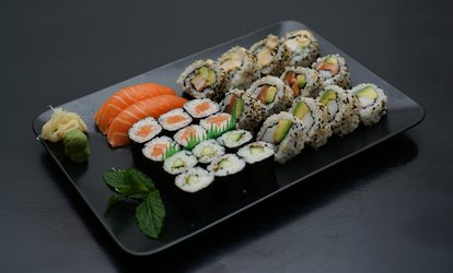 image for 26- or 52-Piece Sushi Platter for Two or Four with Drink at Iro Sushi