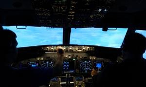 Jet Sim School: One-Hour Boeing 737 Flight Simulator Experience