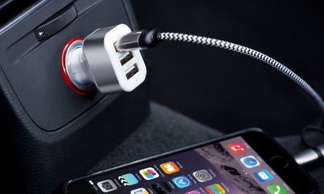 1 o 2 cargadores de coche de 3 puertos USB