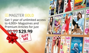 Magzter: 12 Months of Unlimited Online Magazines for $29.99 from Magzter (Don't pay $99.99)