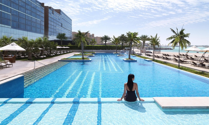 Pool and Beach Access with Optional Food and Drinks for Up to Four at Poolside at Fairmont Bab al Bahr (Up to 58% Off)