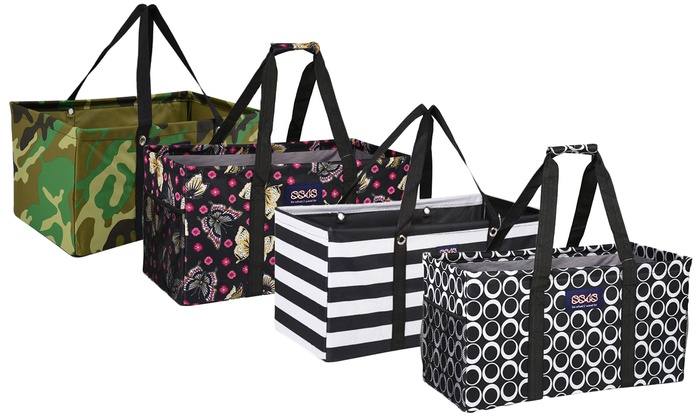 Reusable And Collapsible Grocery Ping Utility Tote Bag