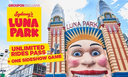 Luna Park Sydney: $44.90 for an Unlimited Ride Pass Plus One Sideshow Game Up to $62 Value