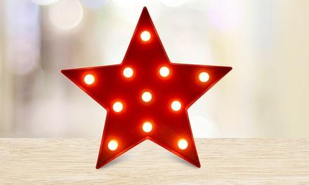 1 of 2 lichtgevende sterren met LEDlicht