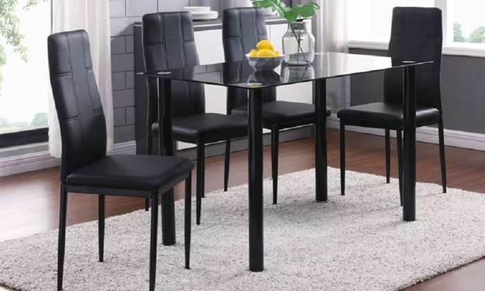 Kiev Dining Table with Four or Six Chairs
