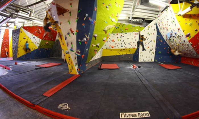 First Avenue Rocks - Southside: Two or Four Rock-Climbing Day Passes with Shoe Rental at First Avenue Rocks (Up to Half Off)