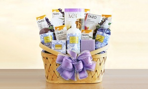 Luxurious Lavender Retreat Spa Basket (6-Piece)
