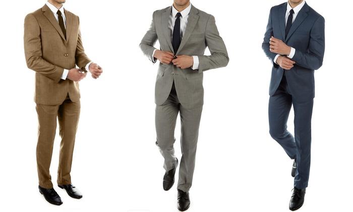 Alberto Cardinali Men's Slim-Fit Sharkskin Suits (2-Piece)