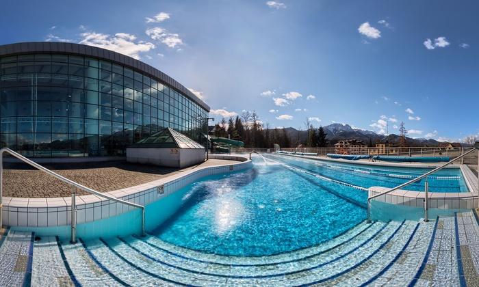Termalny Aqua Park Zakopane - Aqua Park Zakopane : Termalny Aqua Park Zakopane: bilet open na całodzienne wejście (od 44,99 zł) lub bilet rodzinny na baseny (79,99 zł)