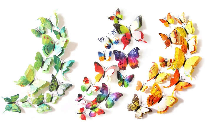 Double Wing Butterfly Wall Art ...