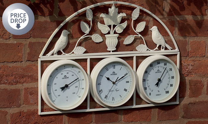 Groupon Goods Global GmbH: Garden Clock (£19.99) Or Weather Stations ...