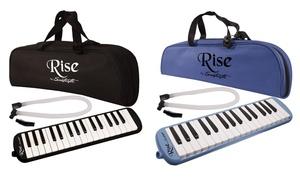 Sawtooth Rise 32-Key Piano-Style Melodica Bundle (4-Piece)