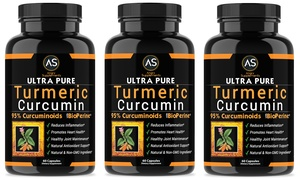 Ultra Pure Turmeric Curcumin 95% Dietary Supplement (1-, 2-, or 3-Pk.)