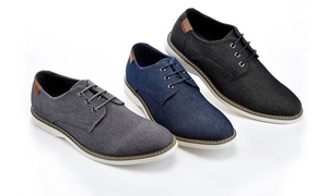 Franco Vanucci Valerio Men's Canvas Oxford Shoes