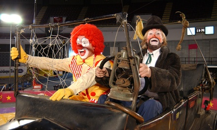 Garden Bros. Circus for Two Adults and Two Children on Saturday, October 13, at 1:30 p.m. or 4:30 p.m.