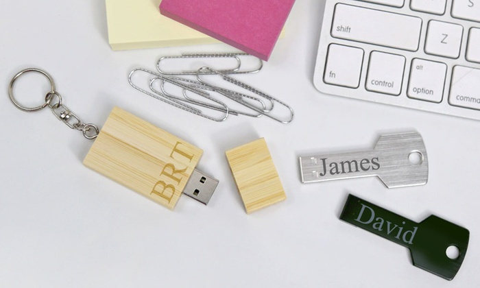 Monogram Online: One or Two Personalized Keychain Flash Drives from Monogram Online (Up to 58% Off). Four Options Available.