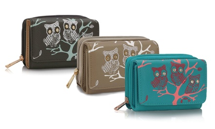 Owls in Tree Zipped Purse for £5.99