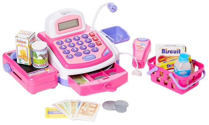 Up To 60 Off On Dash Pretend Play Cash Register Groupon Goods