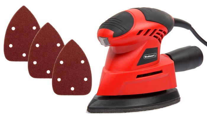 Stalwart Mouse Sander Set (28-Piece)