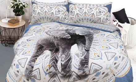 Pieridae Aztec Elephant Duvet Set in Choice of Size