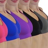 Women's Padded Sports Bra in Regular and Plus Size (6-Pack)