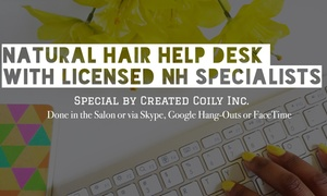 Created Coily Inc.: $30 for Hair Consult + Credit at Created Coily Inc.