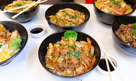 Cooked-to-Order Hot Meal + Miso Soup or Drink: 1 ($10) or 2 Ppl ($20) at Shuji Sushi - 50 Queen St (Up to $36.60 Value)