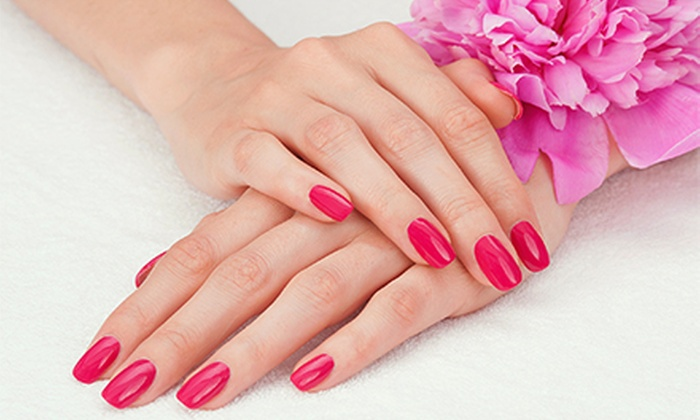 The Nail Spot Spa & Lounge - Anderson: Shellac Manicure or Full Set of Gel Overlays at The Nail Spot Spa & Lounge (Up to 53% Off)