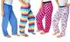 Love 2 Sleep Women's Cotton Printed Lounge Pants (4-Pack) (Size L)
