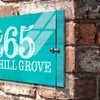 Up to 63% Off Custom Metal House Signs from Fabness