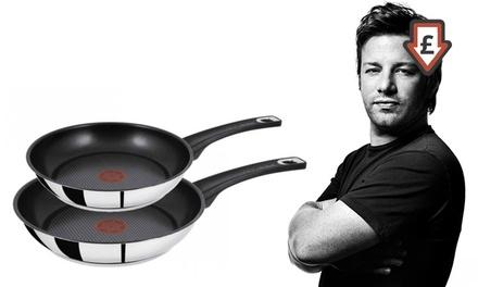 jamie oliver frying pan sets groupon. Black Bedroom Furniture Sets. Home Design Ideas