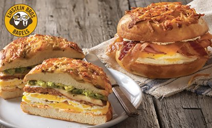 image for Breakfast Sandwich and Coffee or $16 for $30 Worth of Catering at Einstein Bros. Bagels