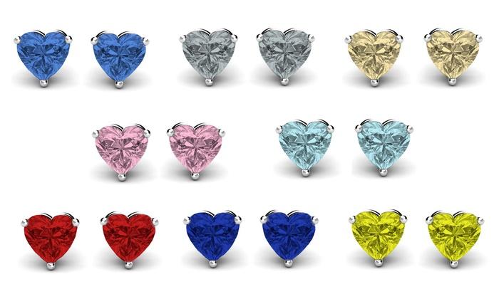 Women S Fashion Jewelry Sterling Silver Birthstone Earrings