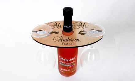 Wine Caddy and Glass Holder