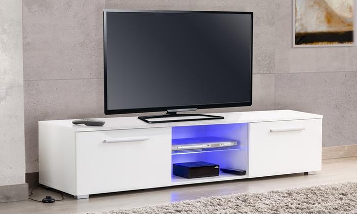 meuble tv utah 160 cm groupon. Black Bedroom Furniture Sets. Home Design Ideas