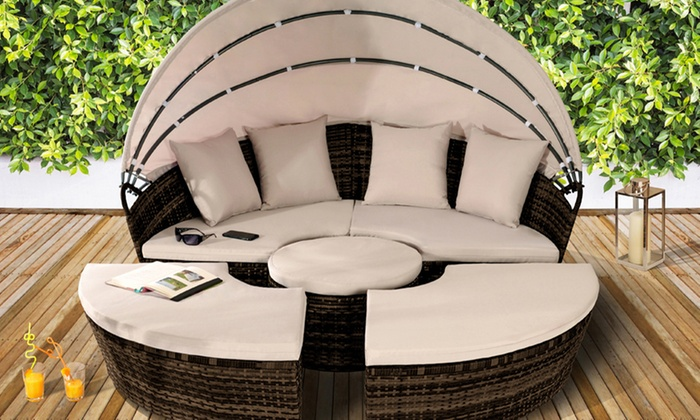 Rattan-Effect Sun Island Furniture Sets with Optional Cover With Free Delivery from £299