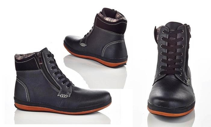 Henry Ferrara Carlos Men's Lace-Up Boots (Size 8.5)